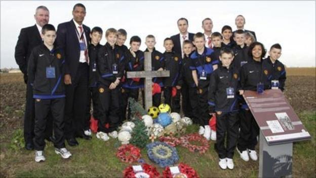 Brian McClair with United's under-12s