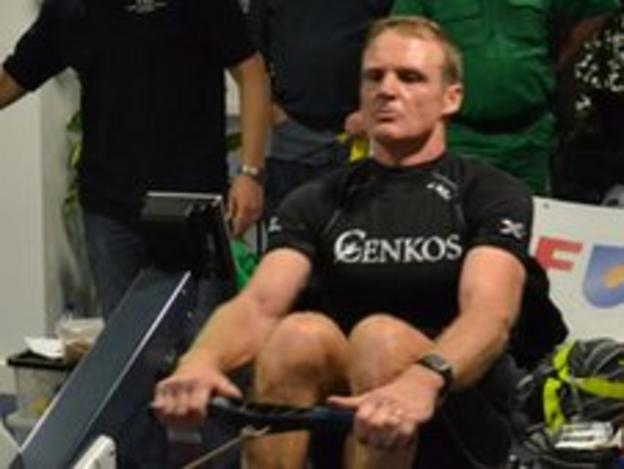 Trevor Coulter rowing