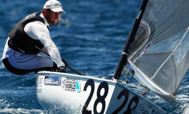 Ben Ainslie competing at the 2011 ISAF World Championships in Perth