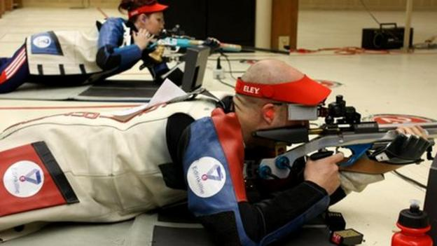 Scottish shooters Jen McIntosh and Neil Stirton