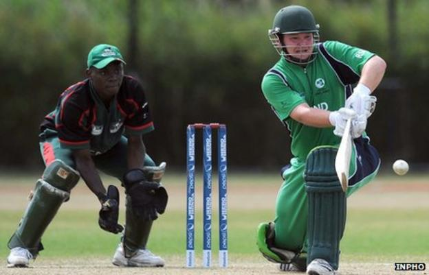 Paul Stirling (right) in action against Kenya last year