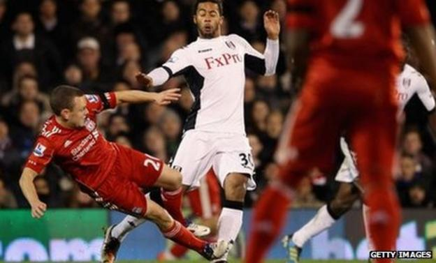 Jay Spearing is sent off after this tackle on Moussa Dembele