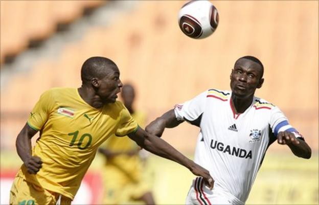 Uganda playing Zimbabwe in Cecafa