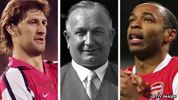 Tony Adams, Herbert Chapman and Thierry Henry