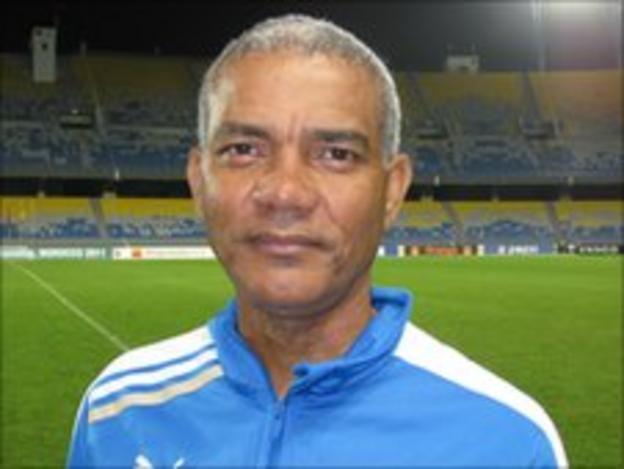 Gabon coach Claude Albert Mbourounot