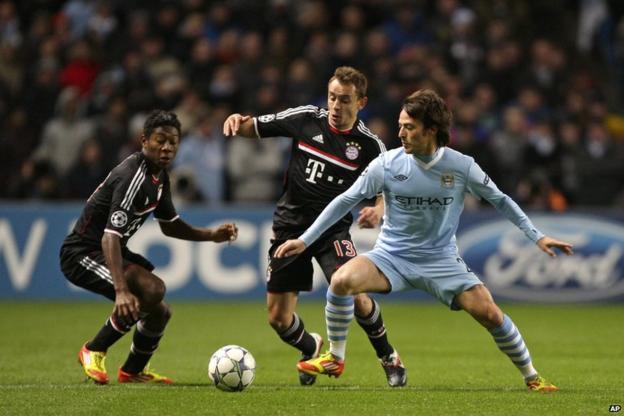 David Silva (right) scores for Manchester City