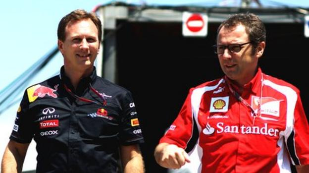 Christian Horner and Stefano Domenicali