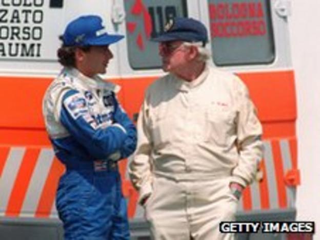 Aryton Senna and Professor Sid Watkins