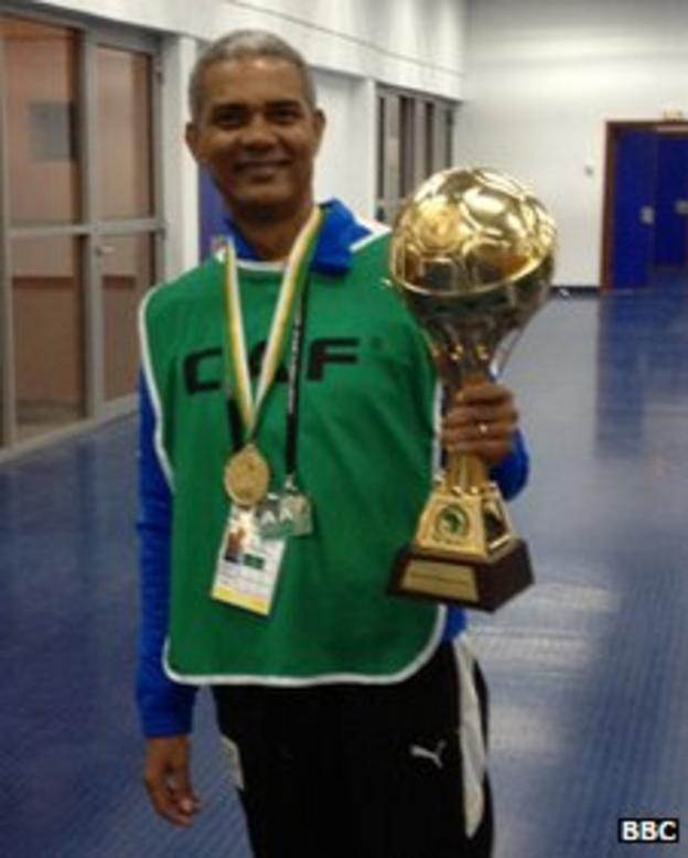 Gabon U23 coach Claude Albert Mbourounot