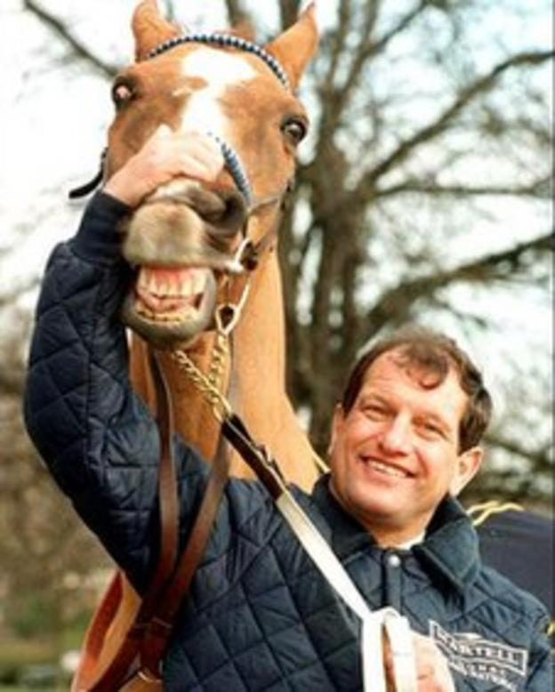 Bob Champion with Aldaniti