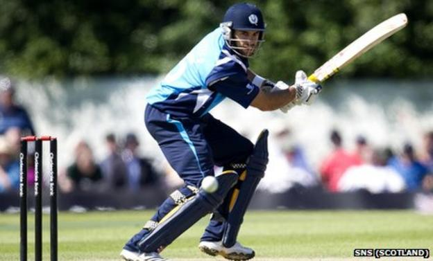 Kyle Coetzer in action for Scotland
