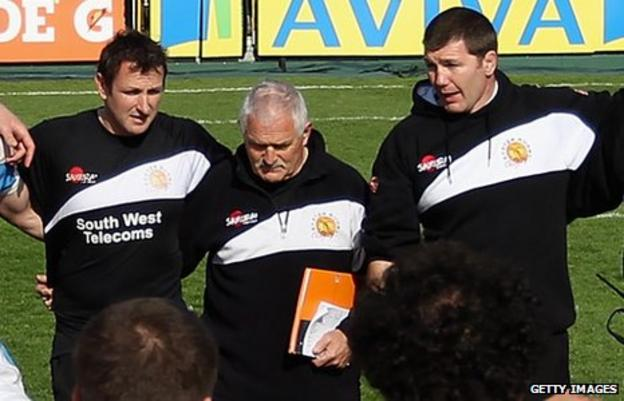 Ali Hepher, Robin Cowling and Rob Baxter