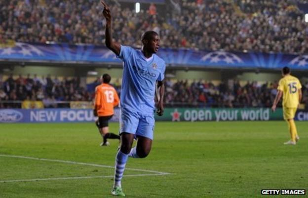 Ivory Coast's Yaya Toure in action for Manchester City