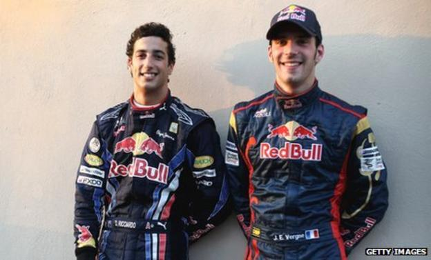 Daniel Ricciardo and Jean-Eric Vergne
