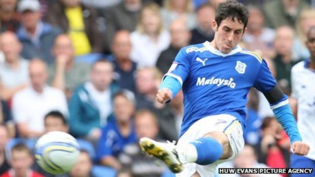 Cardiff City midfielder Peter Whittingham