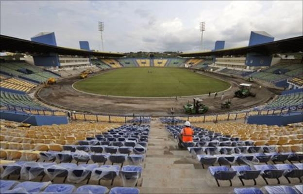 The Franceville Stadium in Gabon