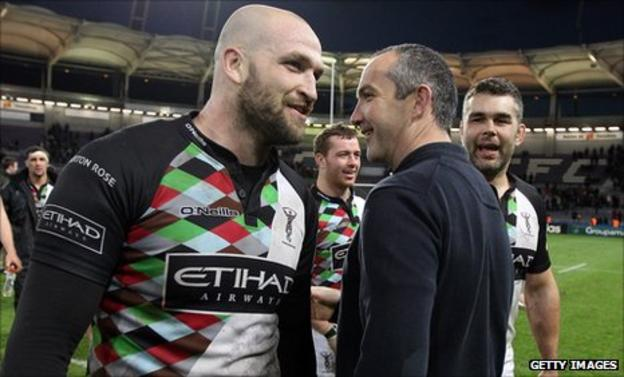 George Robson, Conor O'Shea and Nick Easter