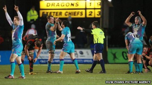Dragons v Exeter