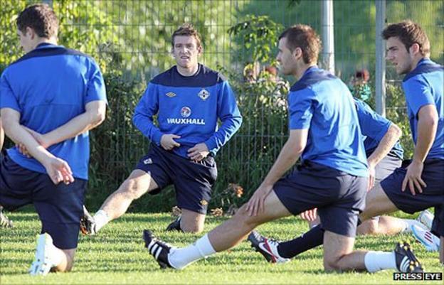 Northern Ireland players training
