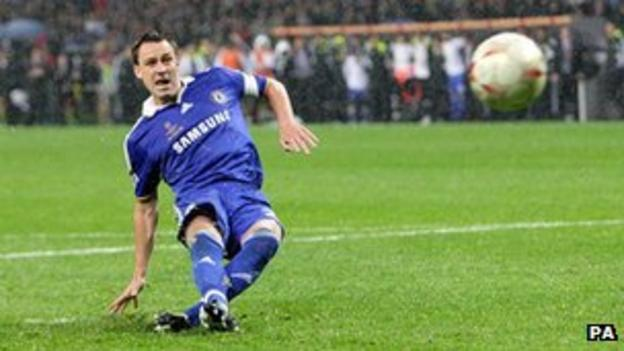 John Terry missing penalty in 200 Champions League final shoot-out