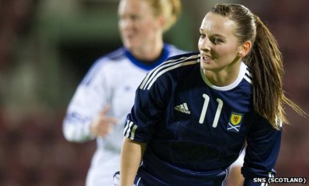 Scotland striker Suzanne Grant