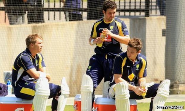 David Warner, Ed Cowan and Shaun Marsh