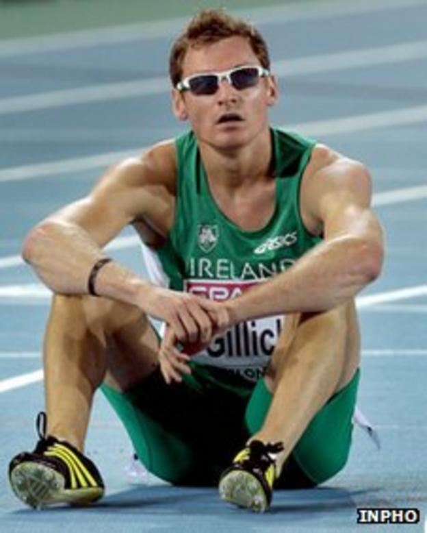 Irish 400m runner David Gillick