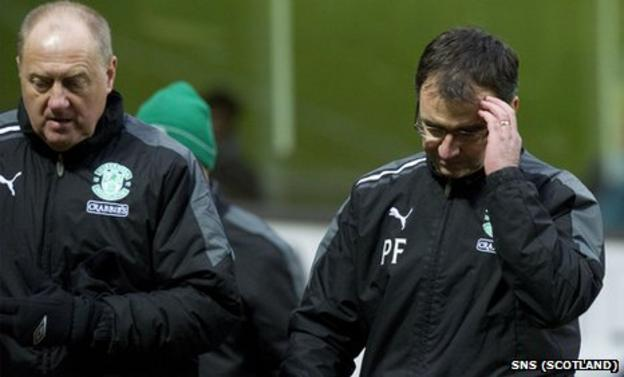 Pat Fenlon (right) with his assistant Billy Brown