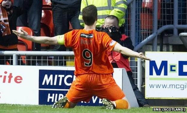 Dundee United striker Jon Daly