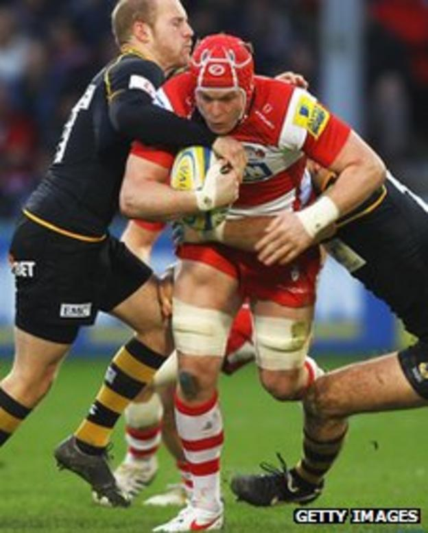 Luke Narraway on the charge for Gloucester