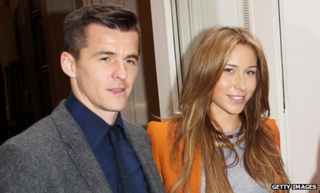 Joey Barton (left) with Georgia McNeil