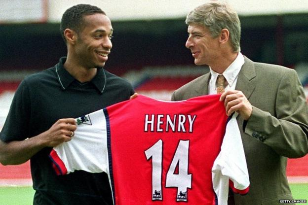 Thierry Henry, Arsene Wenger