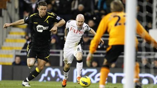 Bolton's Gary Cahill and Fulham's Andy Johnson