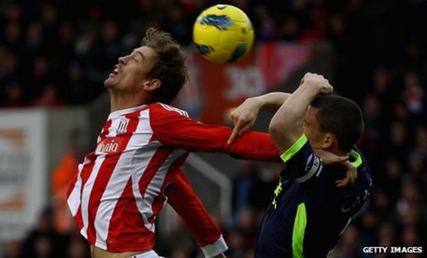 Peter Crouch and Gary Caldwell