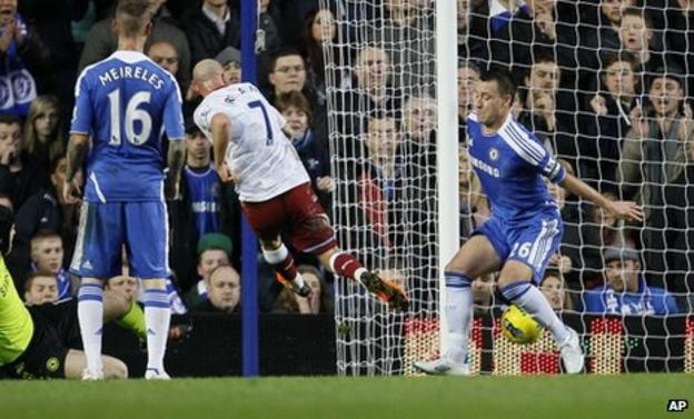 Stephen Ireland scores for Aston Villa