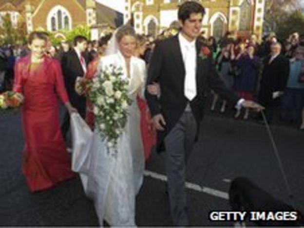 Alice Hunt and Alastair Cook