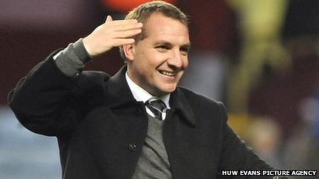 Swansea City manager Brendan Rodgers