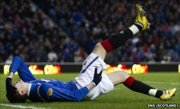 Kyle Lafferty goes down injured