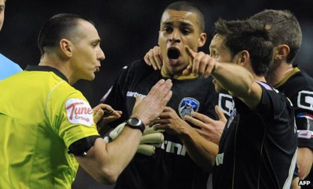 Tom Adeyemi is visibly upset by the alleged incident