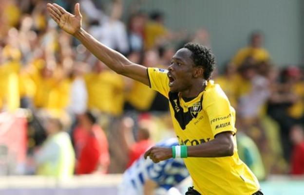 Nigeria's Ahmed Musa celebrating a goal for VVV Venlo