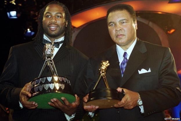 Lennox Lewis and Muhammad Ali