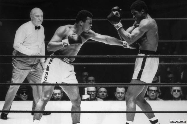 Muhammad Ali and Ernie Terrell
