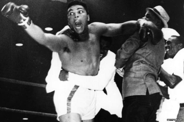 Muhammad Ali, then known as Cassius Clay