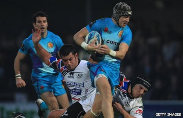 Exeter ran in 10 tries when they beat Cavalieri Prato in November