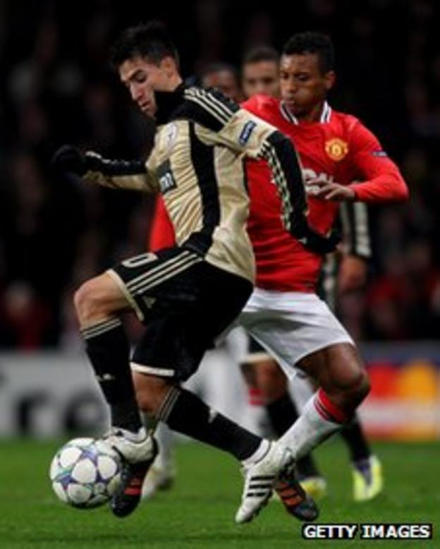 Benfica's Nicolas Gaitan