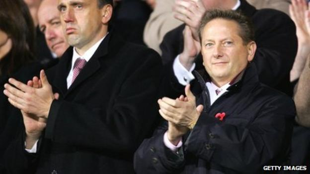 Hearts owner Vladimir Romanov (right)