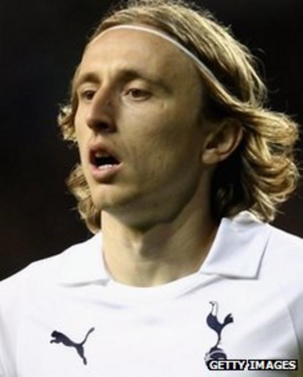 Tottenham midfielder Luka Modric