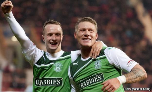 Leigh Griffiths and Garry O'Connor were on target for Hibernian