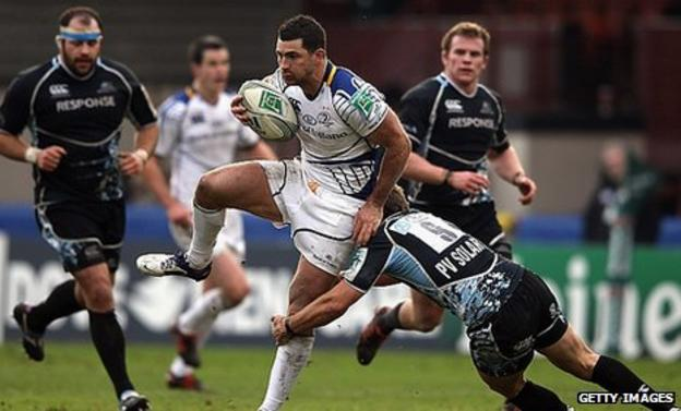 Rob Kearney was a try-scorer for Leinster at Firhill