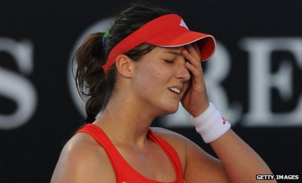 Laura Robson is beaten in the first round of the Australian Open